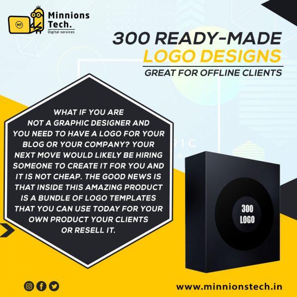 3OO Ready-Made Logo Designs